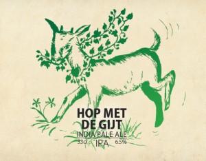 Etiket van Hop met de Gijt