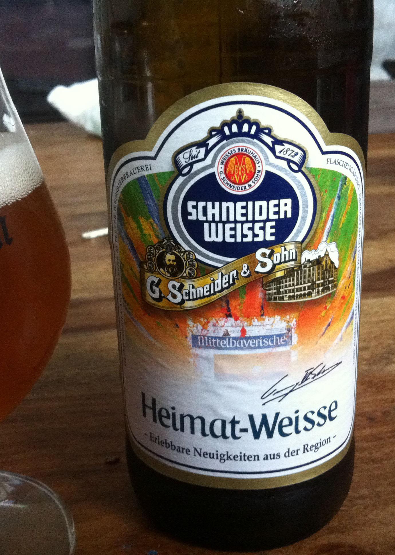 Heimat-Weisse van de Beierse Schneider Weisse brouwerij
