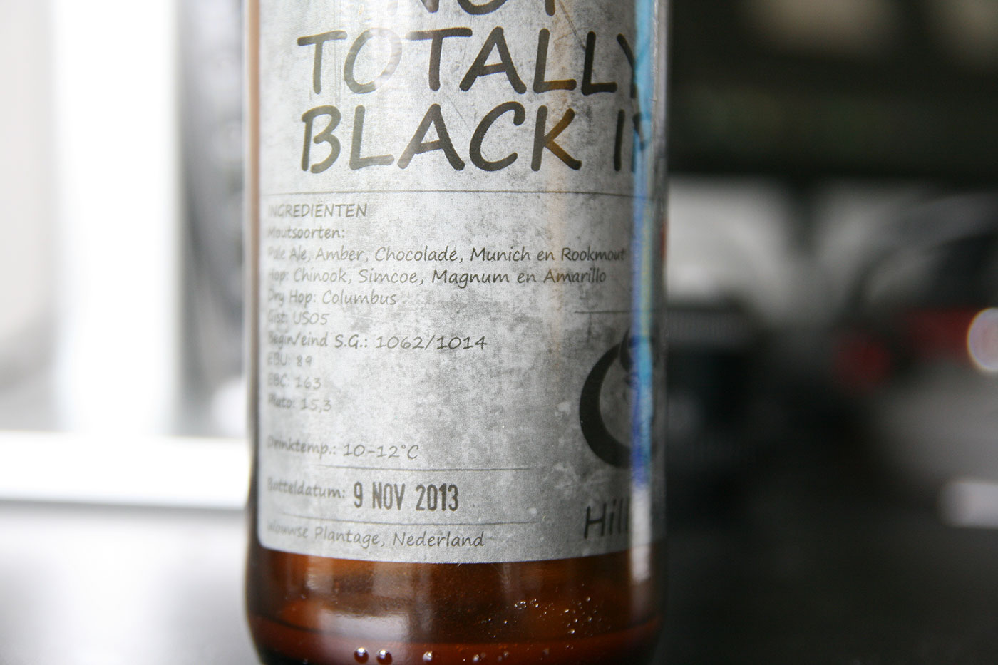 Not So Black IPA (etiket)
