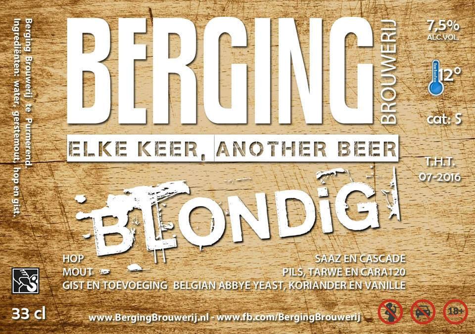 Berging Blondig