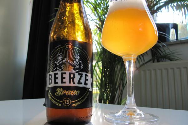 Beerze Brave fles en glas
